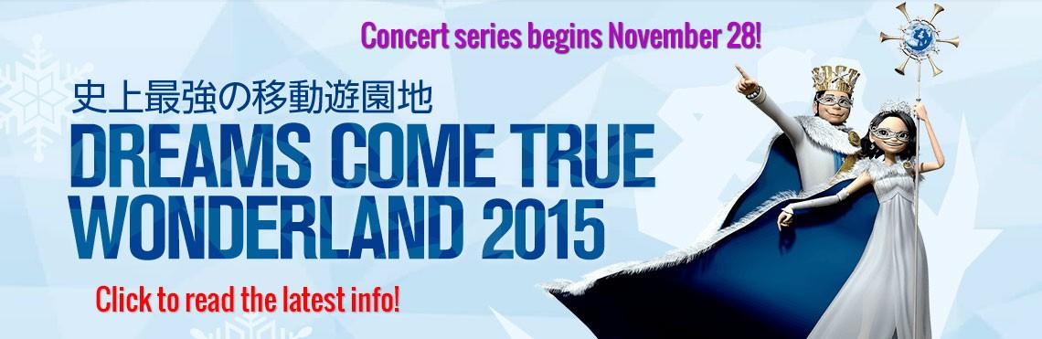 Wonderland 2015 Concert Series